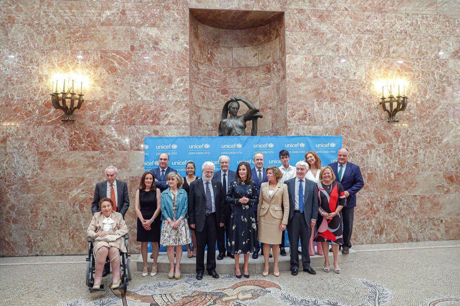 La reine Letizia d'Espagne à la remise des prix de l'Unicef à Madrid, le 11 juin 2019