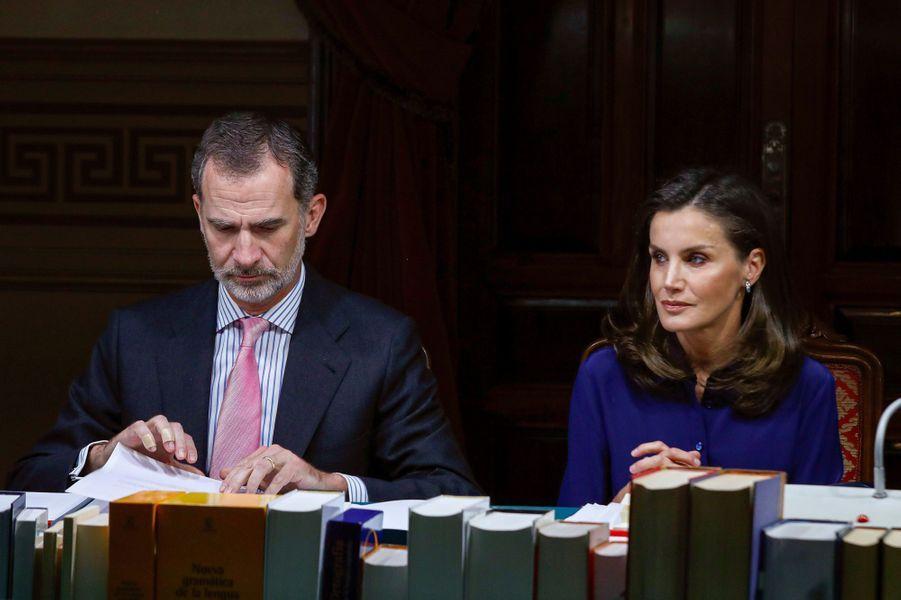 La reine Letizia et le roi Felipe VI d'Espagne à Madrid, le 13 juin 2019
