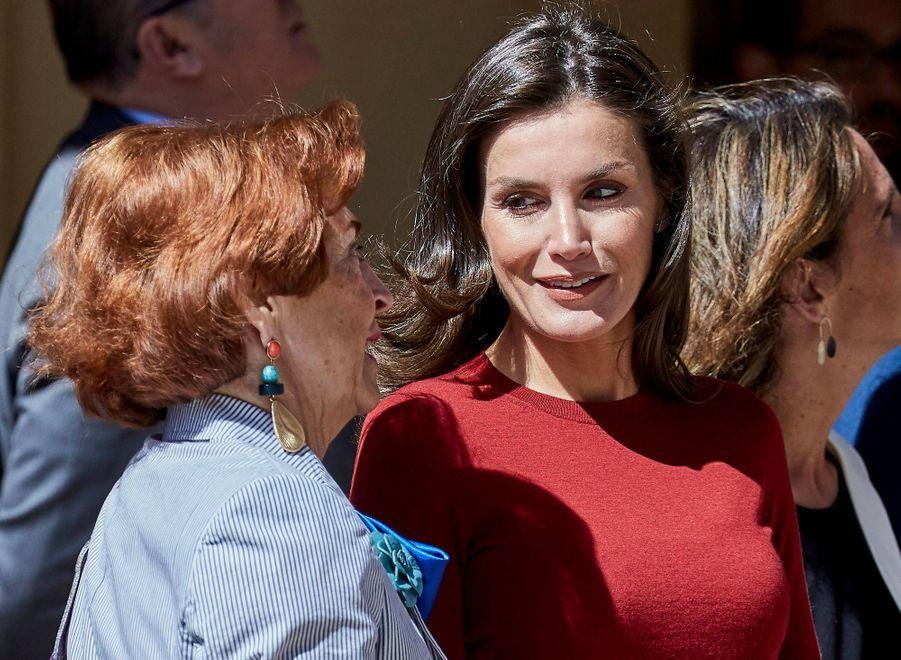La reine Letizia et le roi Felipe VI d'Espagne à El Burgo de Osma, le 12 juin 2019