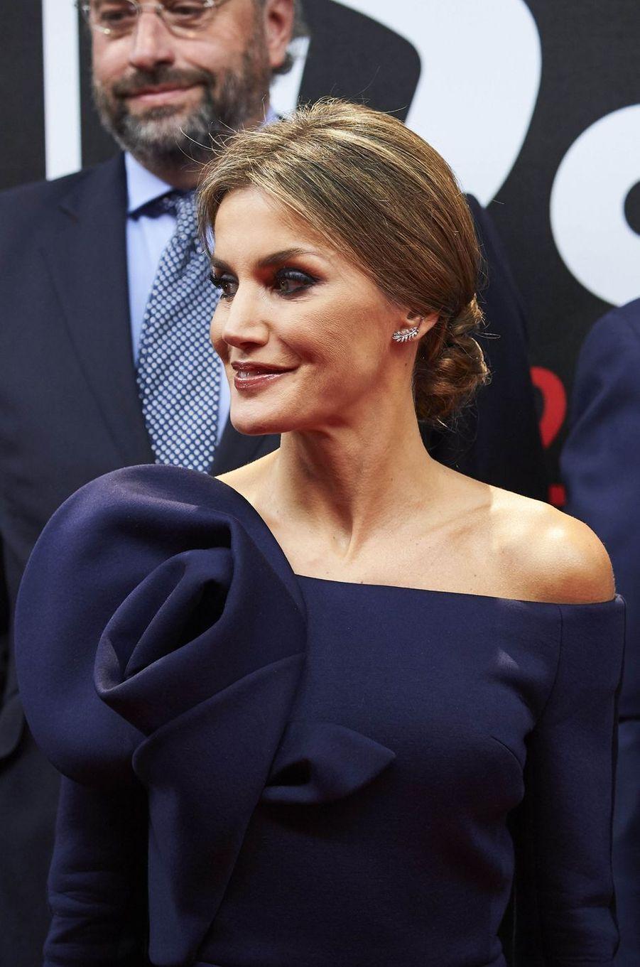 La reine Letizia d'Espagne, le 4 décembre 2017