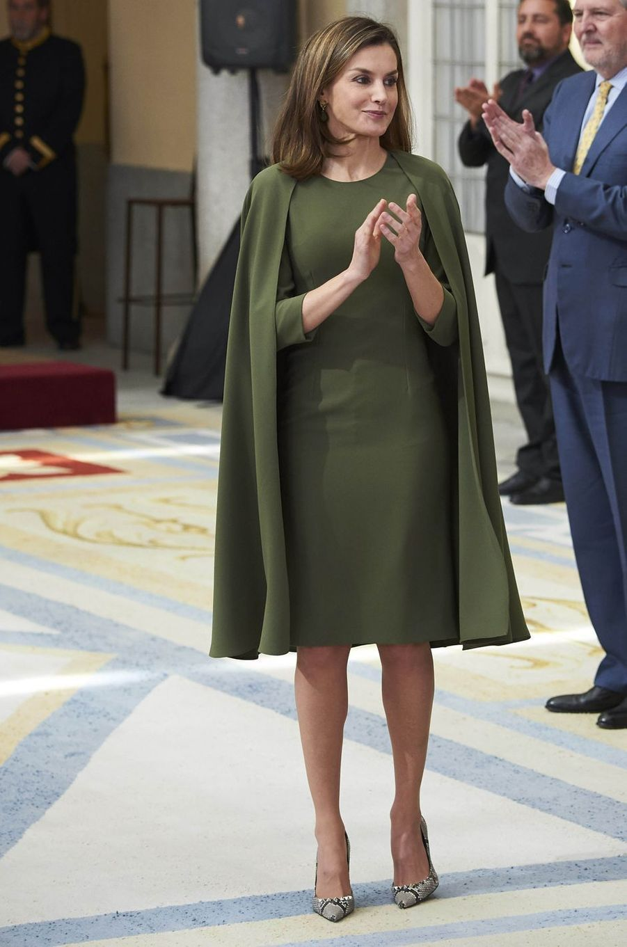 La reine Letizia d'Espagne, le 19 décembre 2017