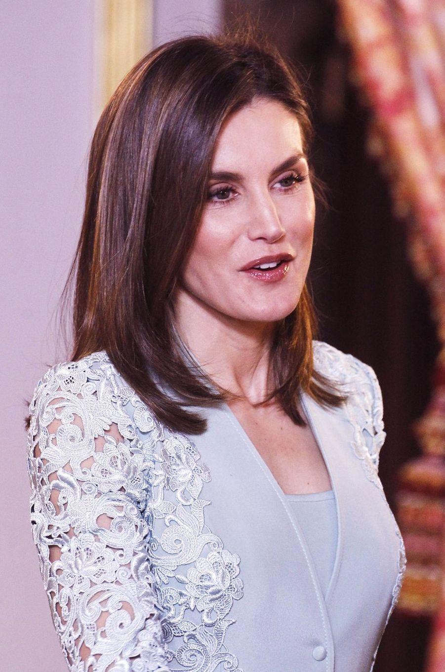 La reine Letizia d'Espagne, le 20 avril 2018