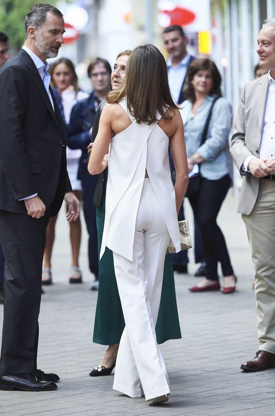 La reine Letizia d'Espagne, le 17 mai 2018
