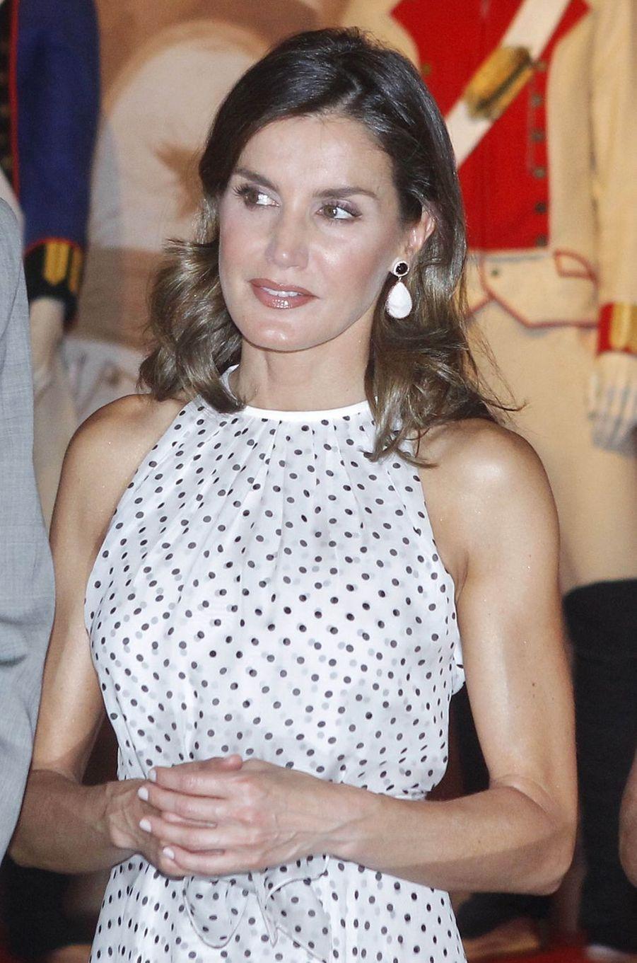La reine Letizia d'Espagne, le 19 juillet 2018