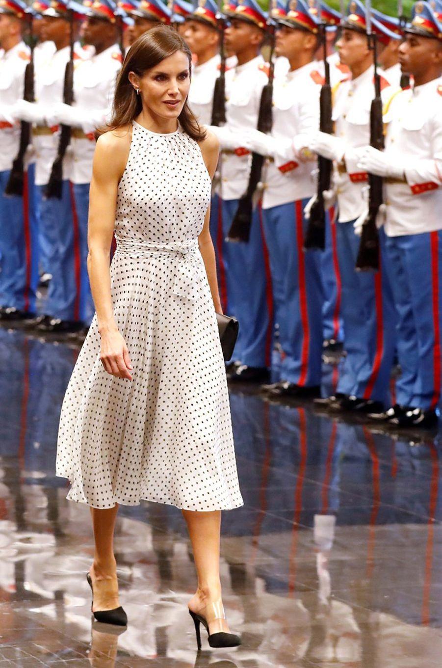 La reine Letizia d'Espagne, le 12 novembre 2019 à La Havane