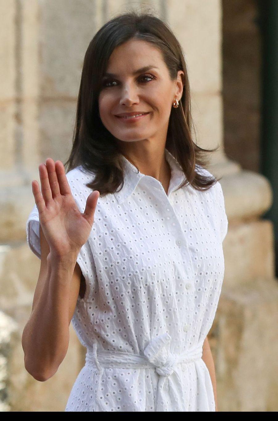 La reine Letizia d'Espagne à La Havane, le 13 novembre 2019