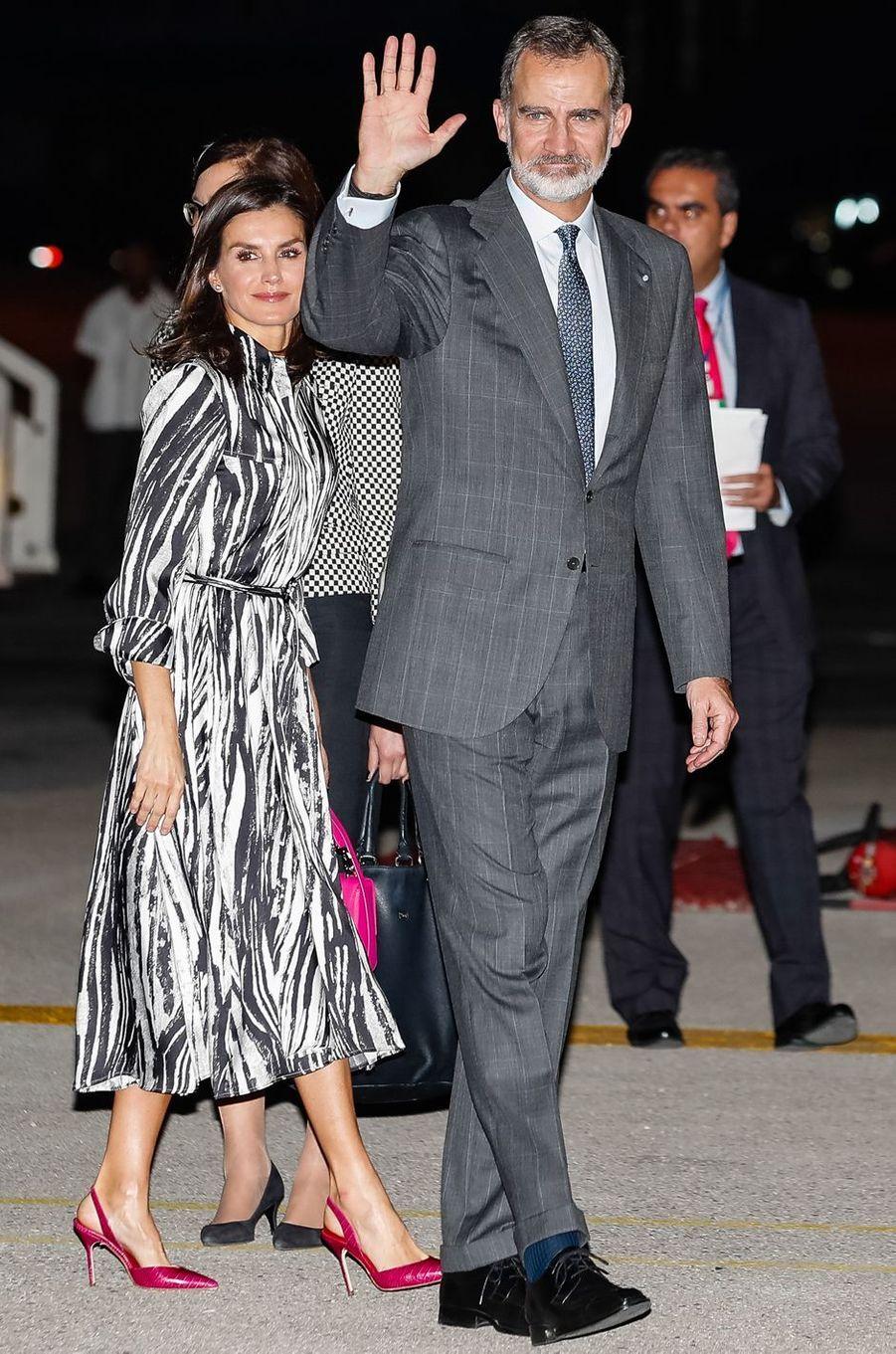 La reine Letizia d'Espagne à La Havane, le 11 novembre 2019