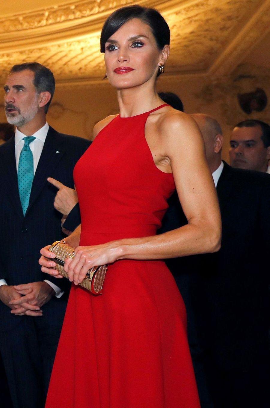 La reine Letizia d'Espagne à La Havane, le 12 novembre 2019