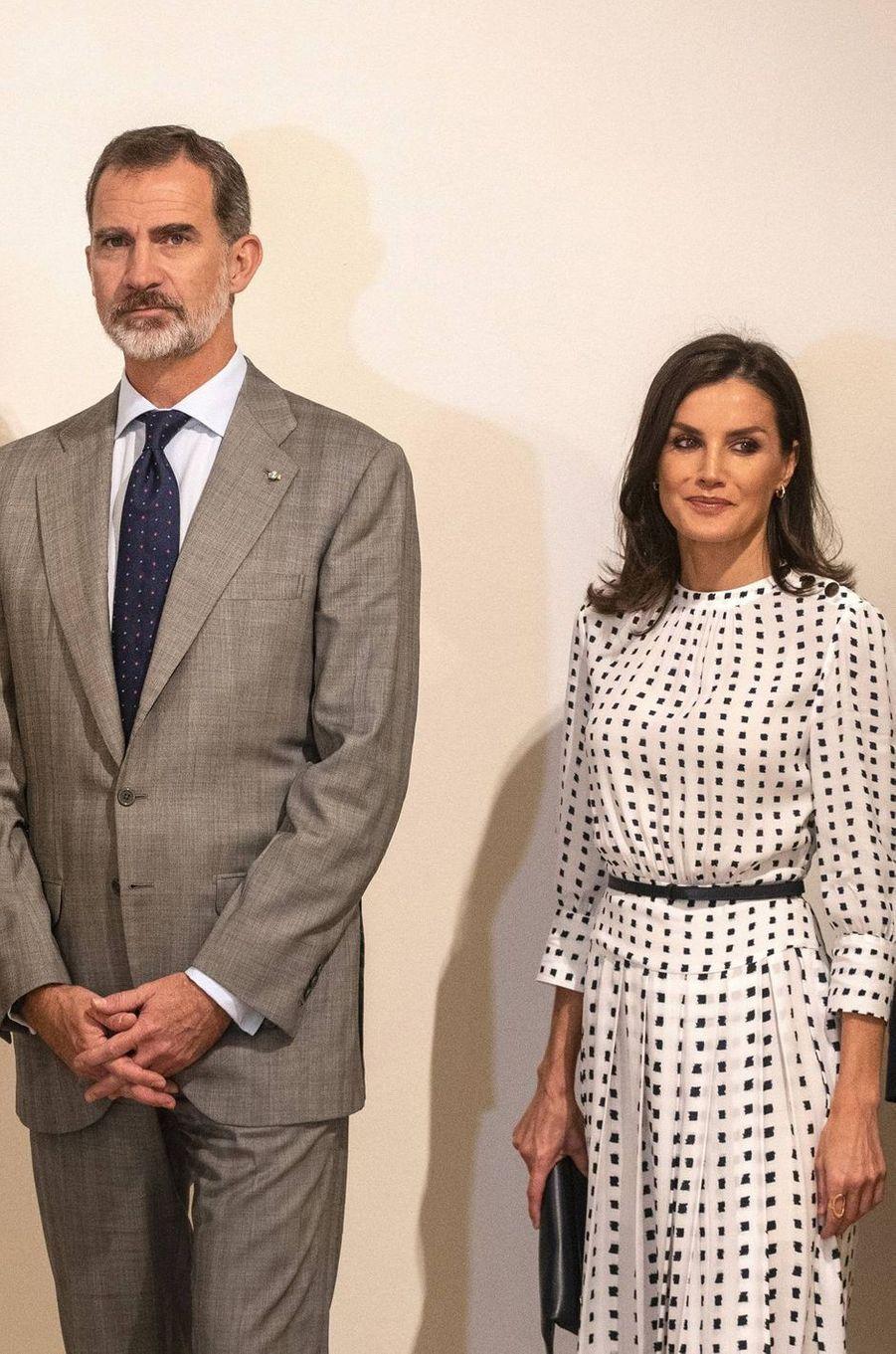 La reine Letizia d'Espagne à La Havane, le 14 novembre 2019