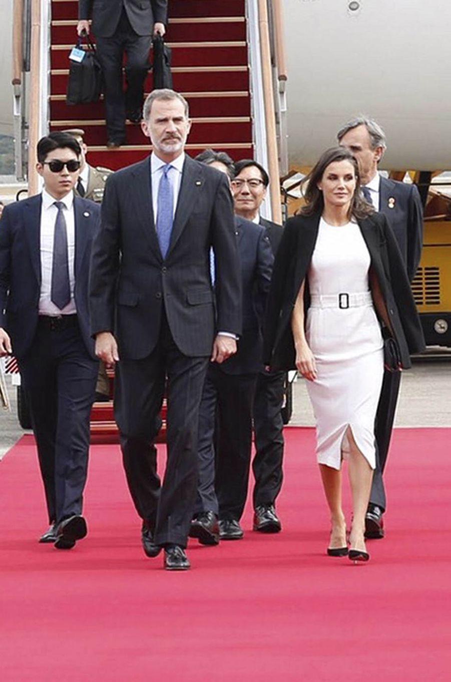 La reine Letizia d'Espagne à Séoul, le 23 octobre 2019