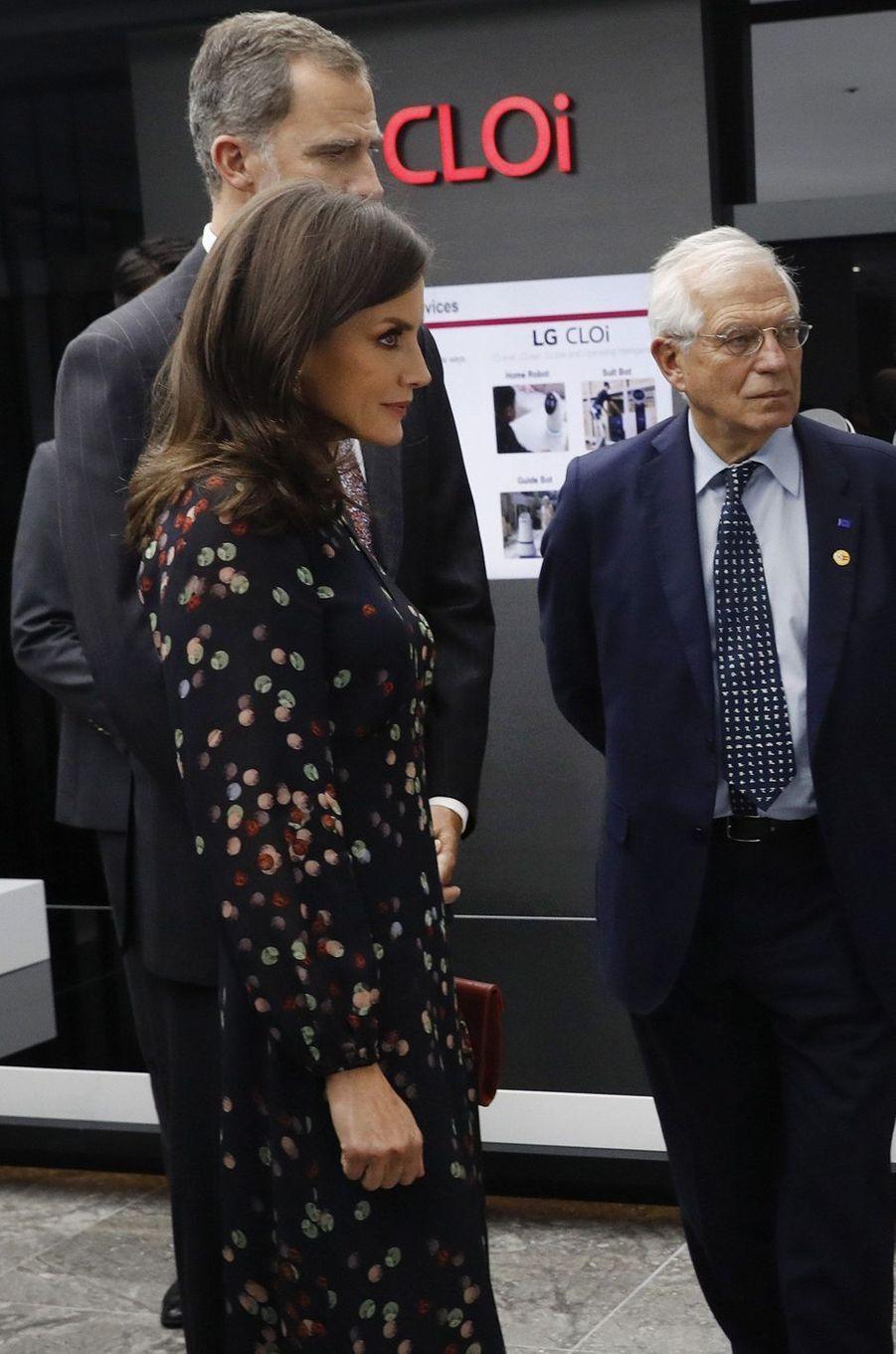 La reine Letizia d'Espagne à Séoul, le 24 octobre 2019