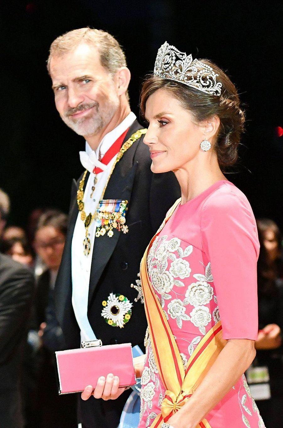 La reine Letizia d'Espagne à Tokyo, le 22 octobre 2019