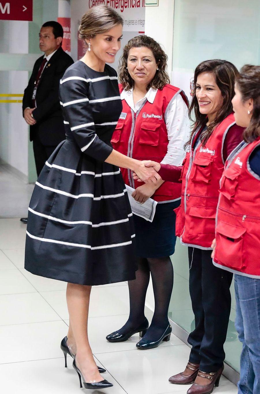 La reine Letizia d'Espagne à Lima au Pérou, le 12 novembre 2018