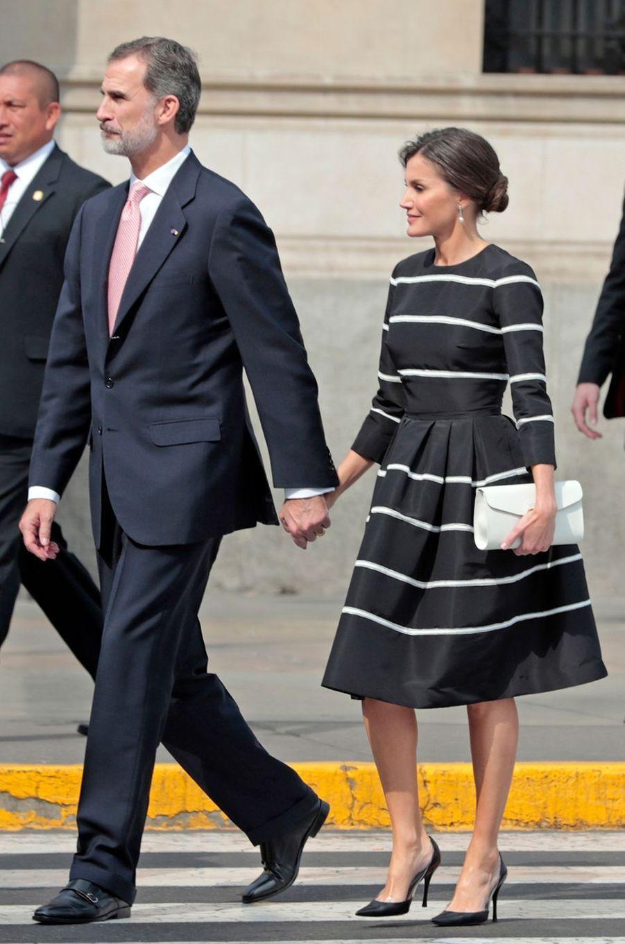La reine Letizia d'Espagne, le 12 novembre 2018 à Lima