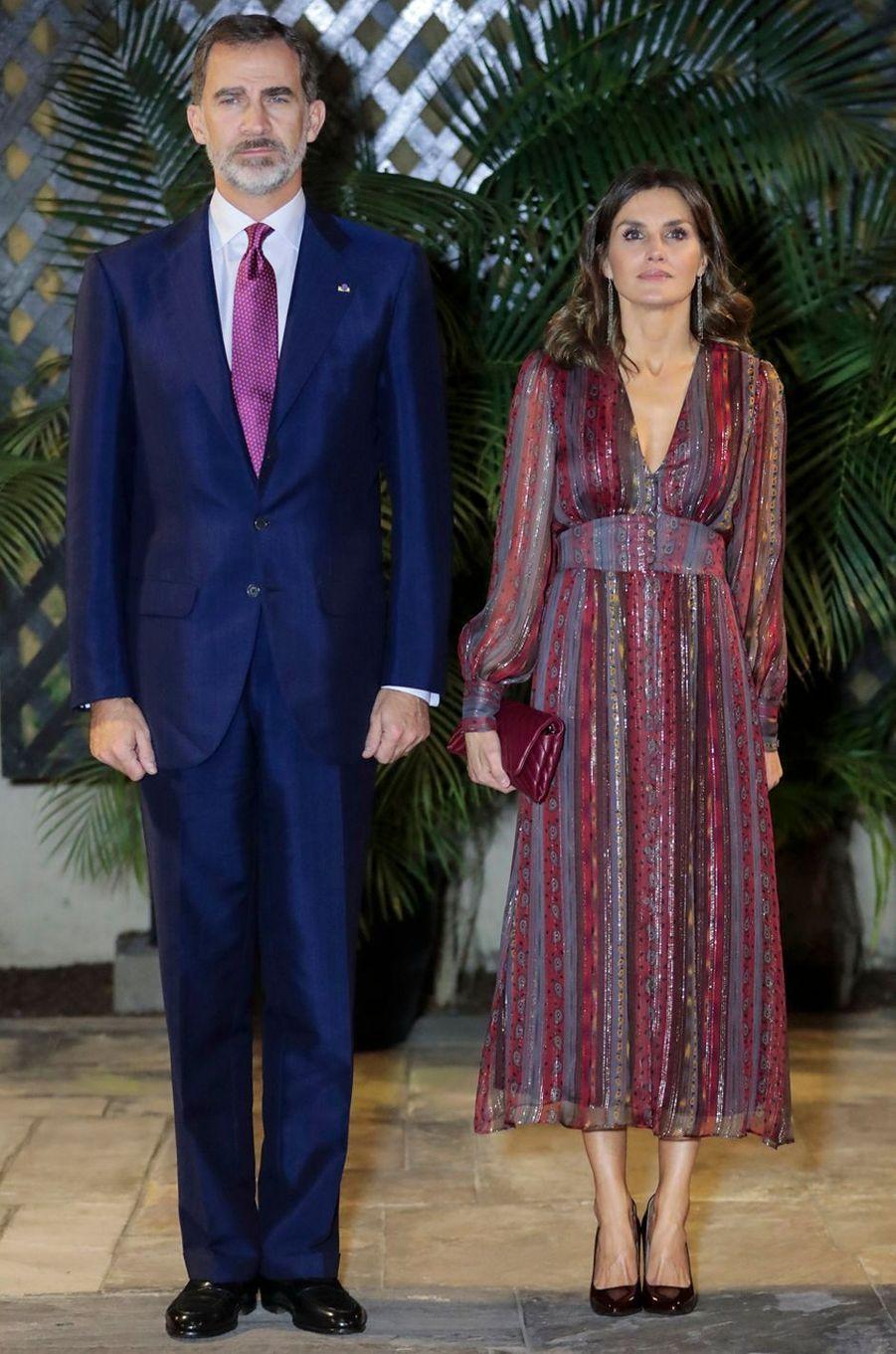 La reine Letizia d'Espagne en Intropia à Lima, le 13 novembre 2018
