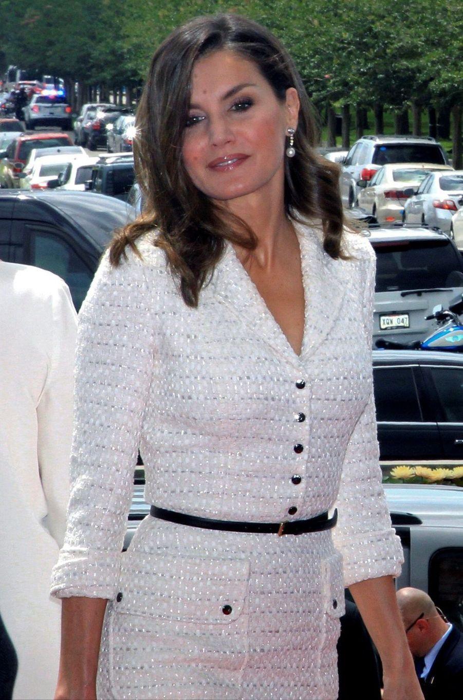 La reine Letizia d'Espagne à La Nouvelle-Orléans, le 16 juin 2018