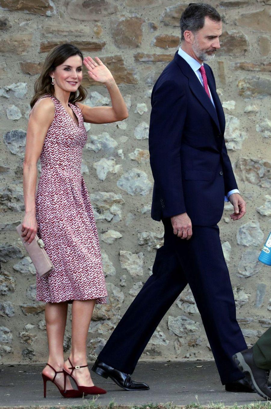 La reine Letizia d'Espagne à San Antonio, le 17 juin 2018