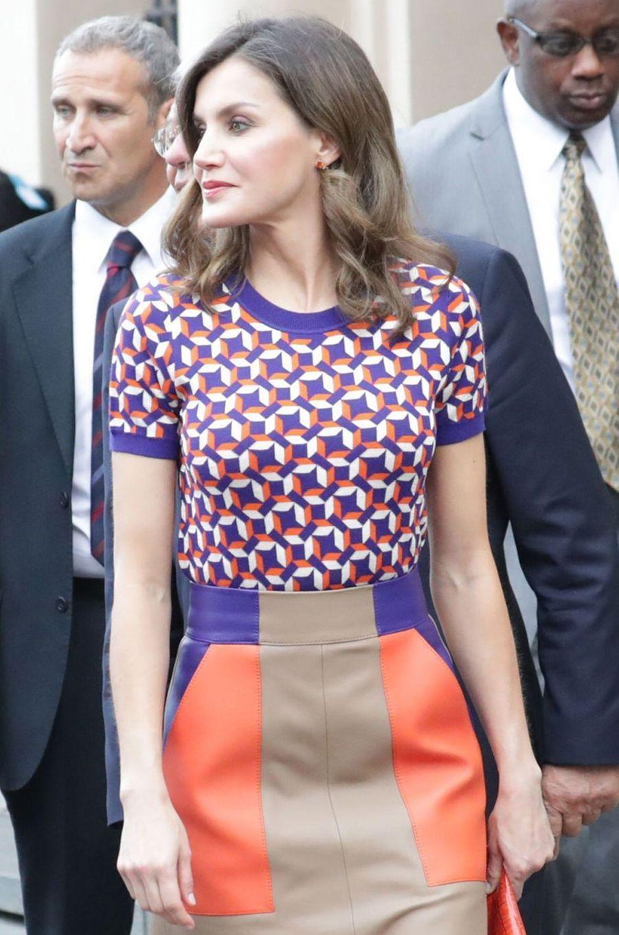 La reine Letizia d'Espagne à La Nouvelle-Orléans, le 15 juin 2018