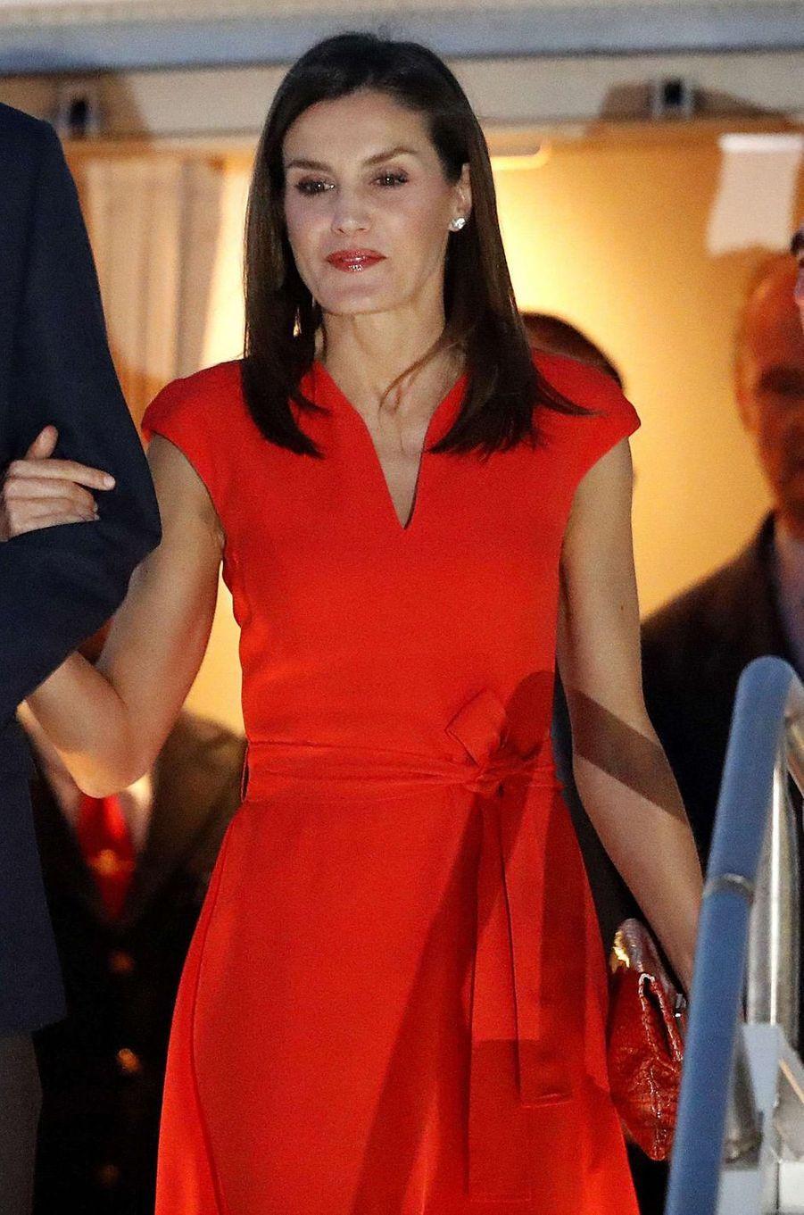 La reine Letizia d'Espagne à La Nouvelle-Orléans, le 14 juin 2018