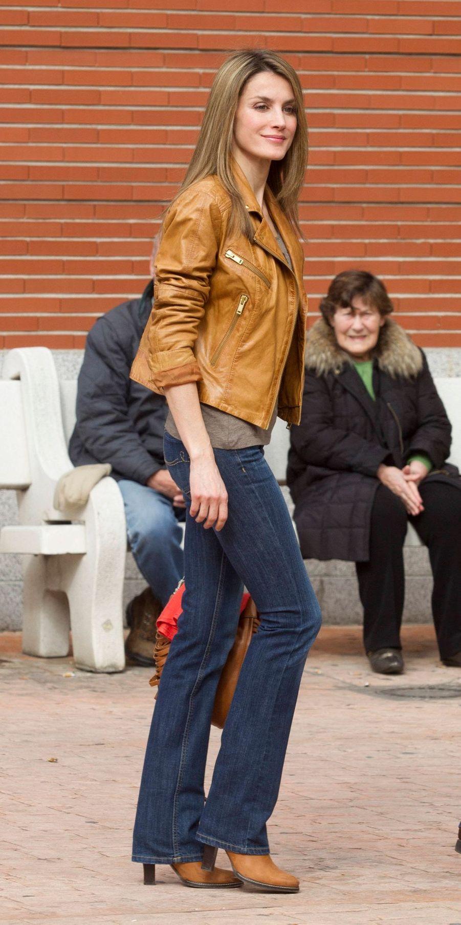 La princesse Letizia d'Espagne, le 4 mars 2013