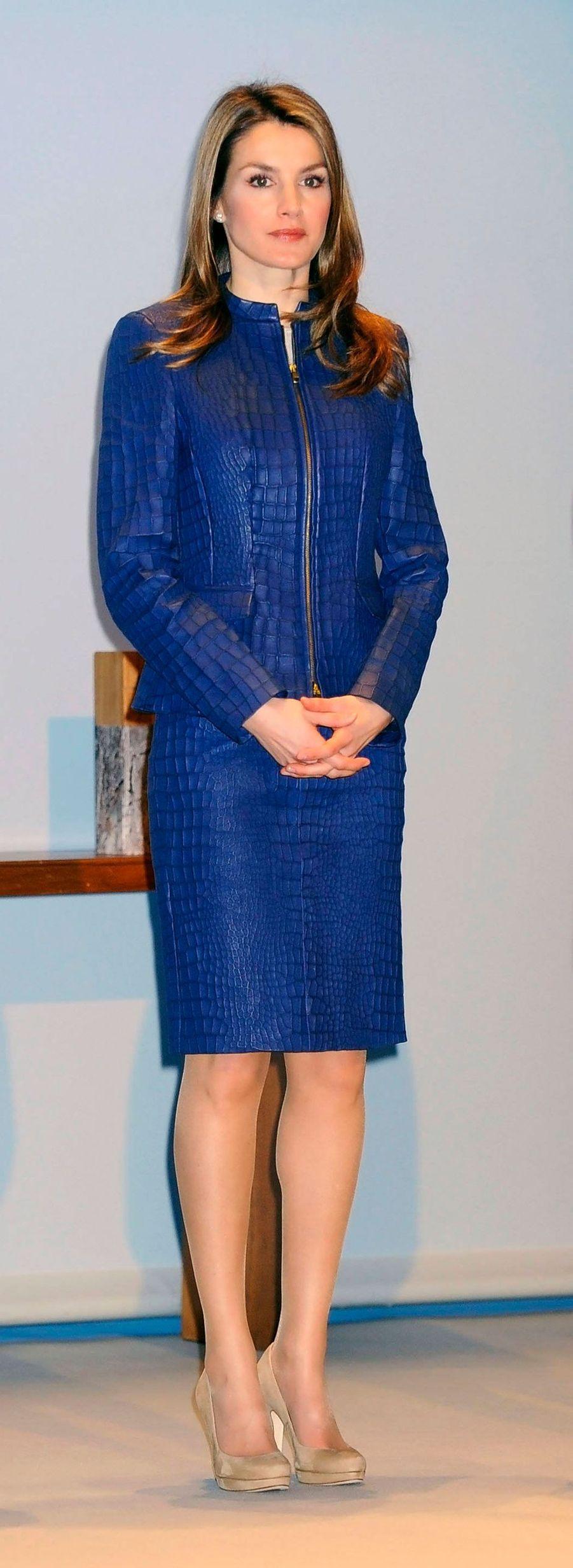 La princesse Letizia d'Espagne, le 12 mars 2013