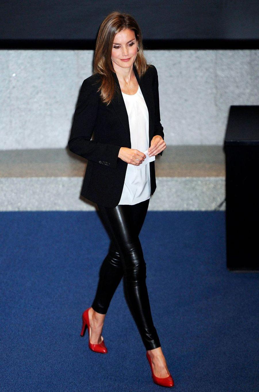 La princesse Letizia d'Espagne, le 31 octobre 2013