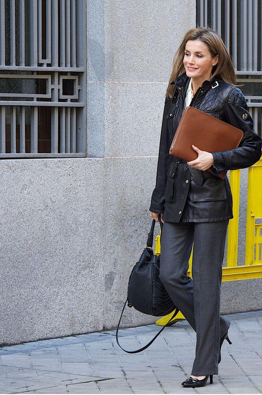 La princesse Letizia d'Espagne, le 20 janvier 2014