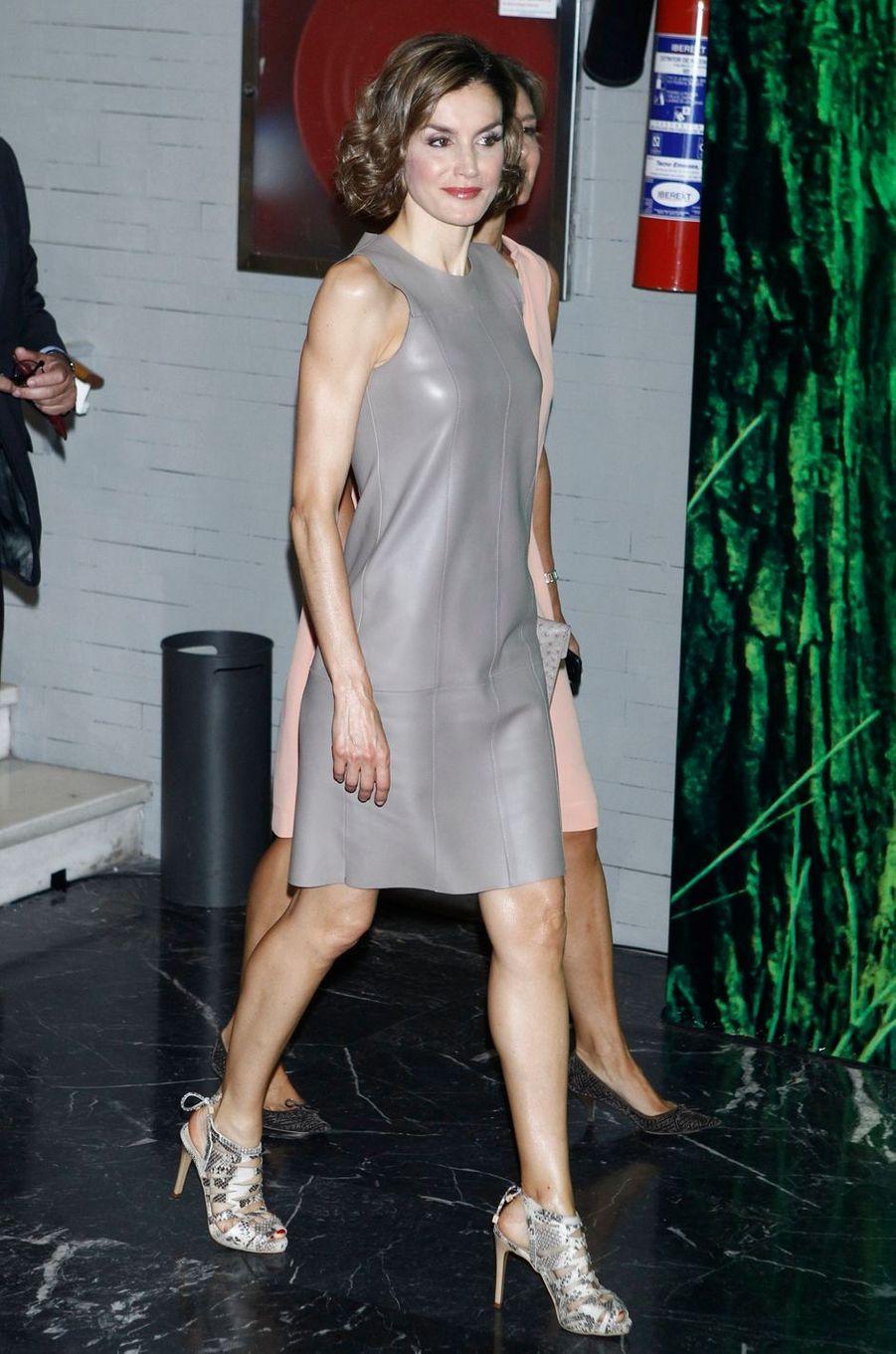 La reine Letizia d'Espagne, le 9 juillet 2015