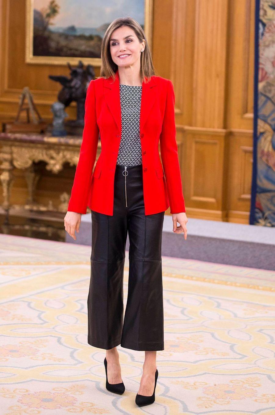 La reine Letizia d'Espagne, le 13 avril 2016