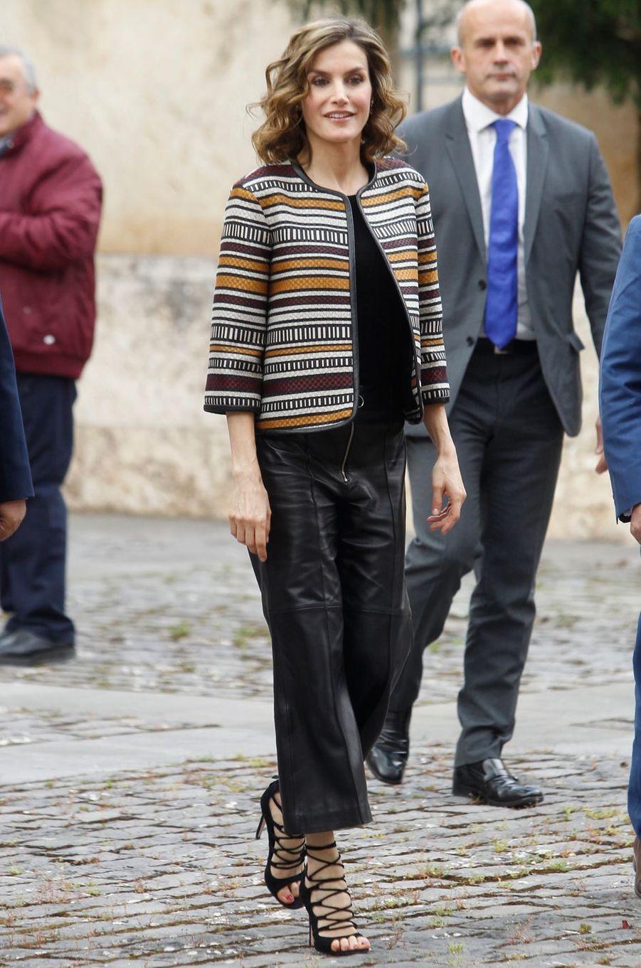 La reine Letizia d'Espagne, le 25 mai 2016