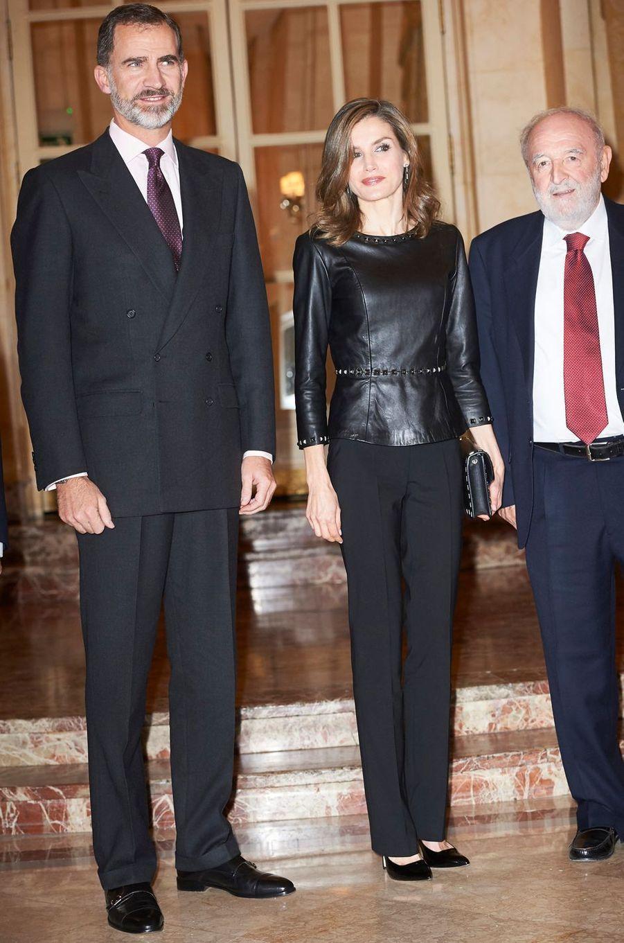 La reine Letizia d'Espagne, le 11 novembre 2016