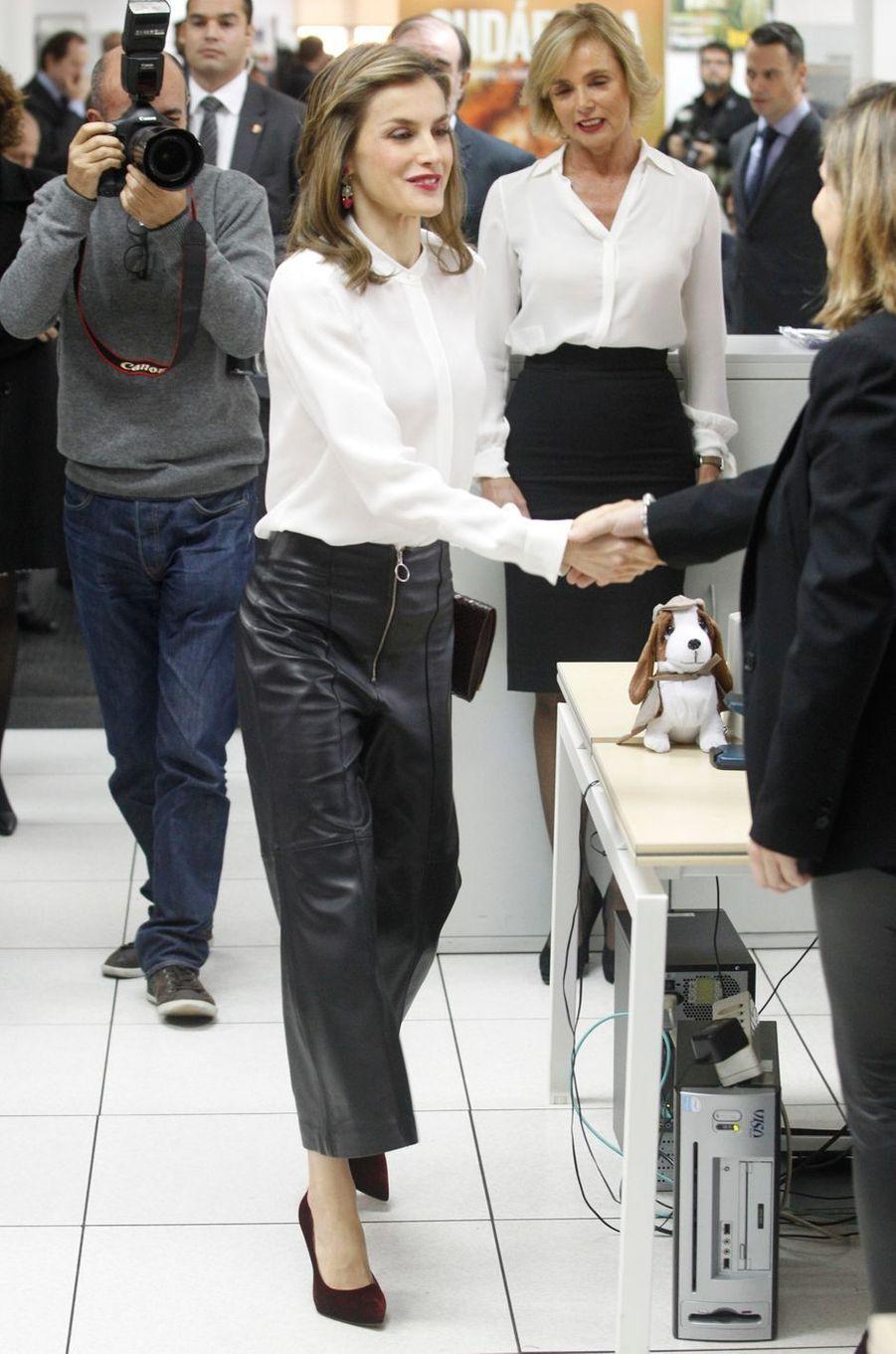 La reine Letizia d'Espagne, le 12 décembre 2016
