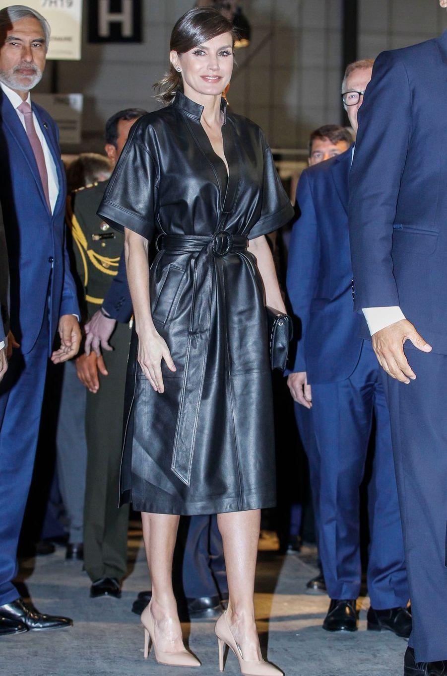 La reine Letizia d'Espagne, le 28 février 2019