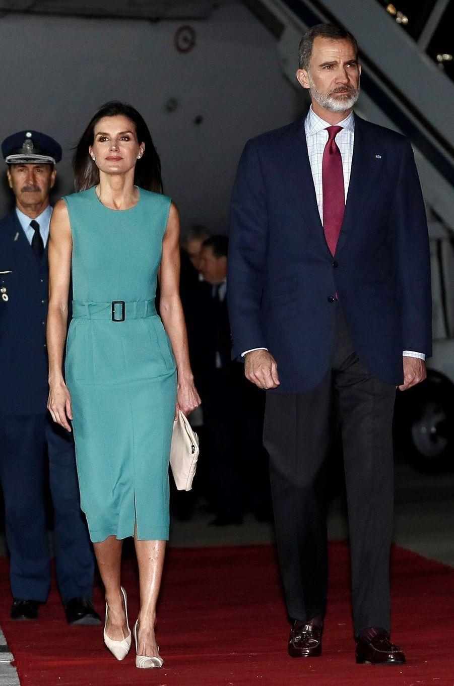 La reine Letizia d'Espagne à son arrivée à Buenos Aires, le 25 mars 2019