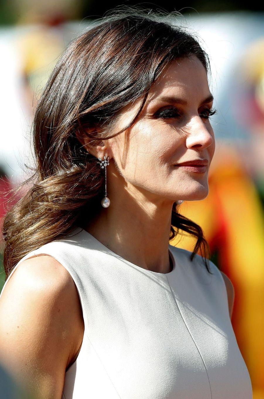 La reine Letizia d'Espagne à Buenos Aires, le 26 mars 2019