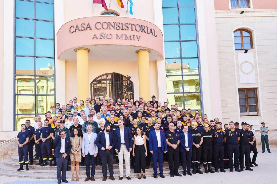 La reine Letizia et le roi Philippe VI d'Espagne à Los Alcazares, le 4 octobre 2019