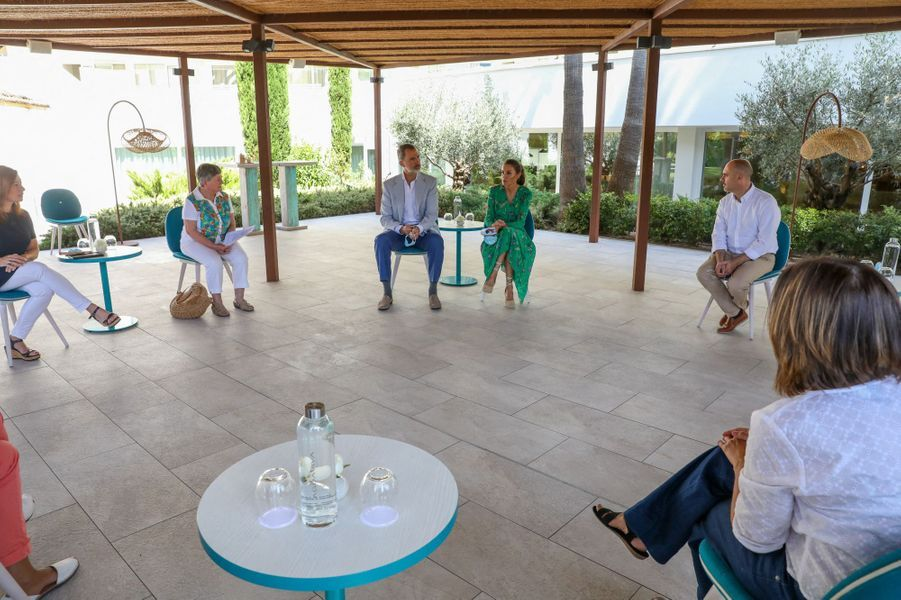 La reine Letizia et le roi Felipe VI d'Espagne, le 25 juin 2020 à Palma de Majorque