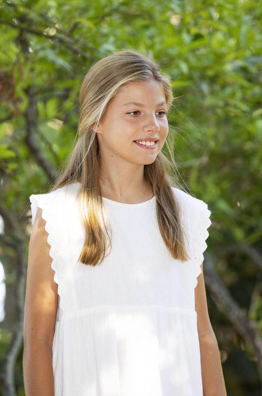 La princesse Sofia d'Espagne à Son Marroig sur l'île de Majorque, le 8 août 2019