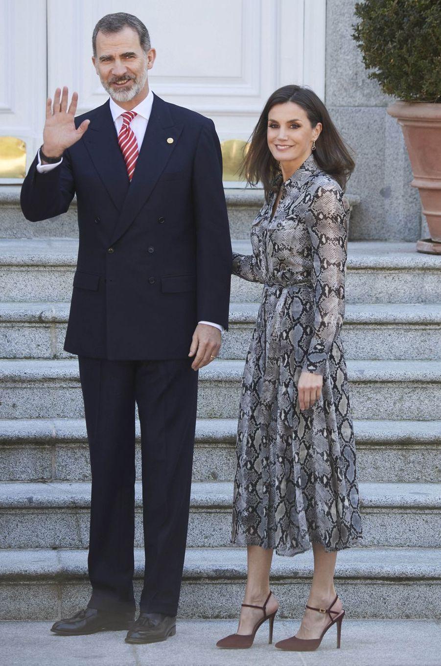 La reine Letizia d'Espagne, le 27 février 2019 à Madrid