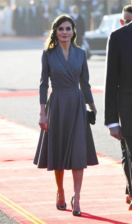 La reine Letizia d'Espagne au Maroc le 13 février 2019
