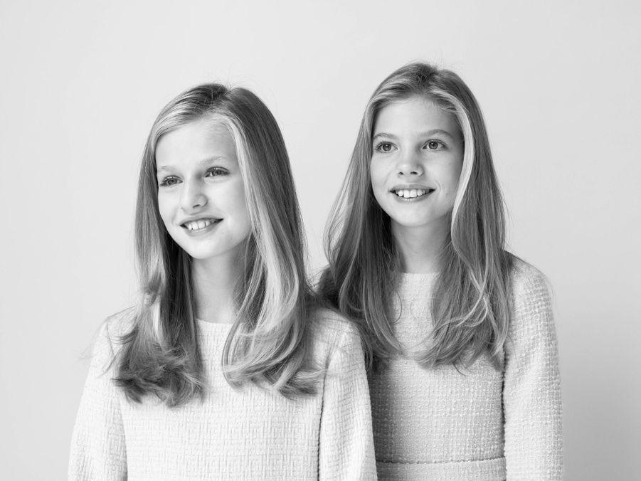 Nouveau portrait des princesses Leonor et Sofia d'Espagne, dévoilé le 11 février 2020