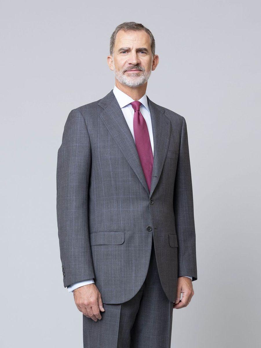 L'un des nouveaux portraits du roi Felipe VI d'Espagne, dévoilé le 11 février 2020