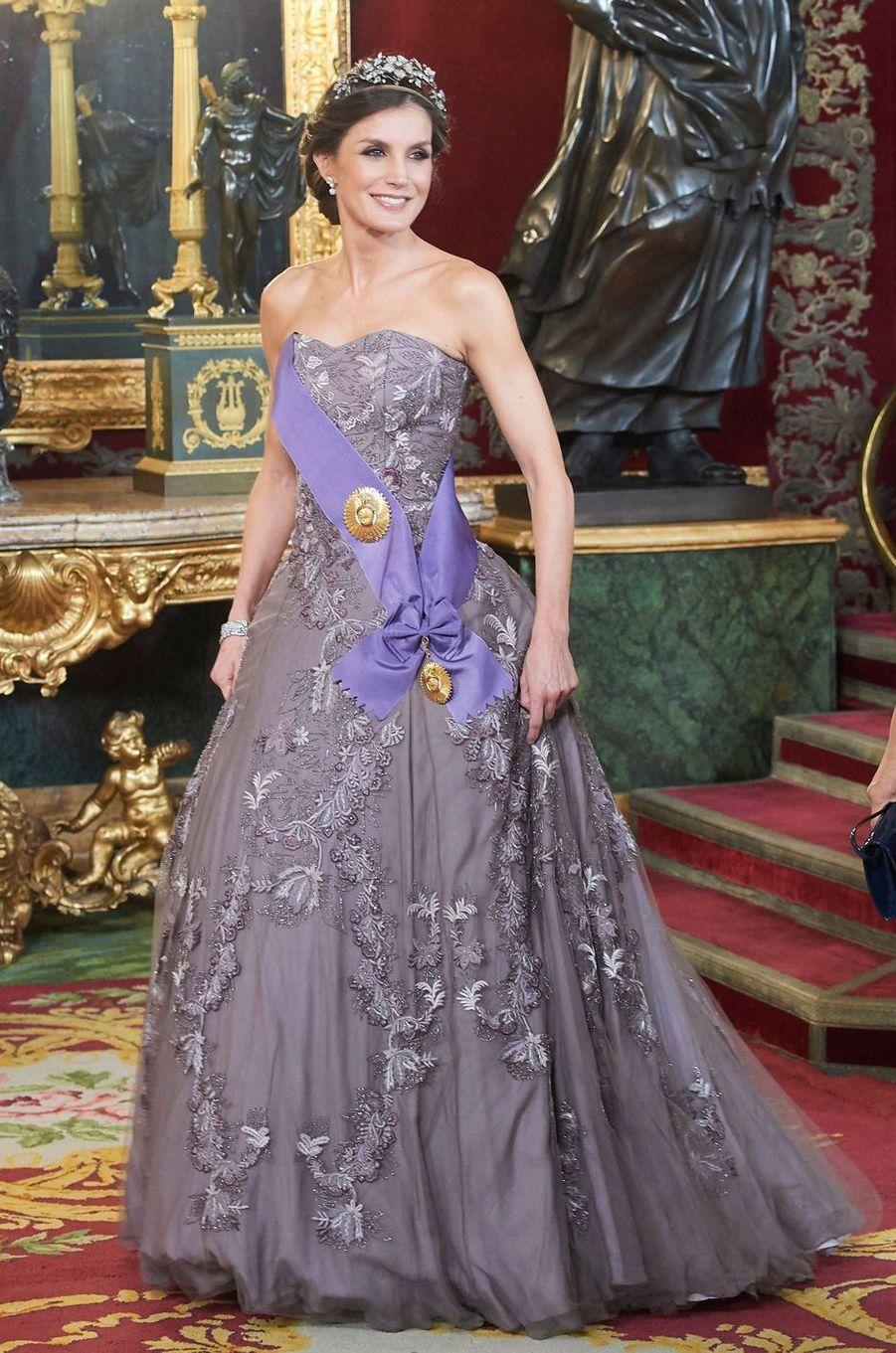 La reine Letizia d'Espagne à Madrid, le 27 février 2019