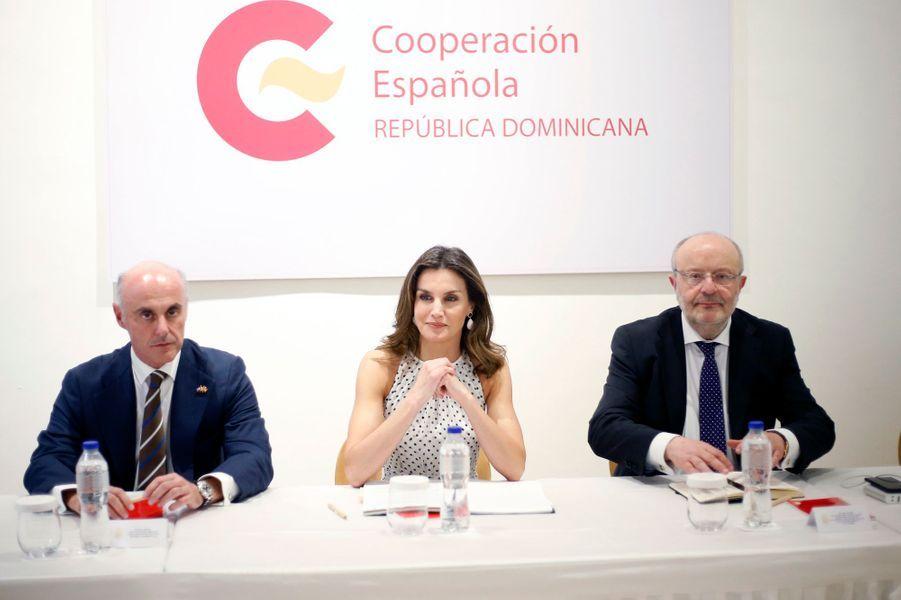 La reine Letizia d'Espagne à Saint-Domingue, le 21 mai 2018