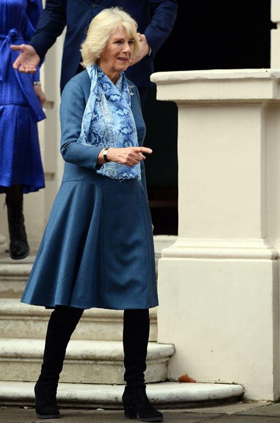 Camilla Parker-Bowles à Londres, le 26 mars 2015