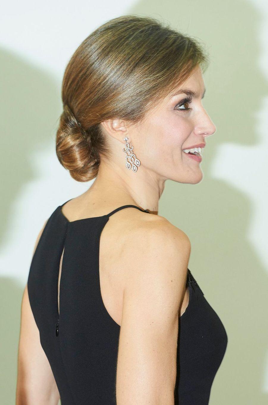 La reine Letizia d'Espagne, le 10 décembre 2015