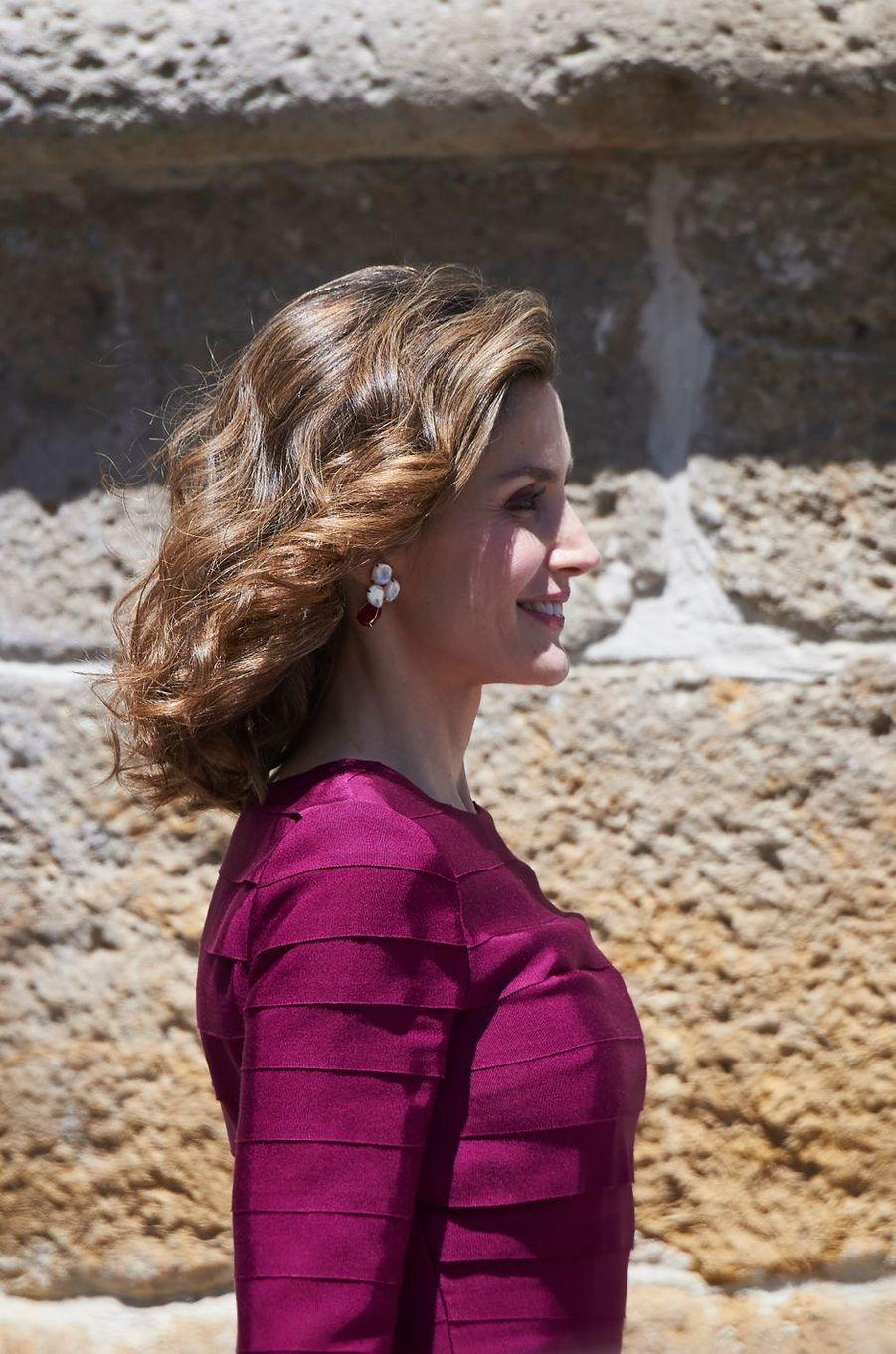 La reine Letizia d'Espagne, le 1er juin 2016