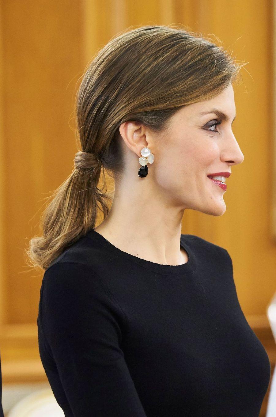 La reine Letizia d'Espagne, le 2 juin 2016