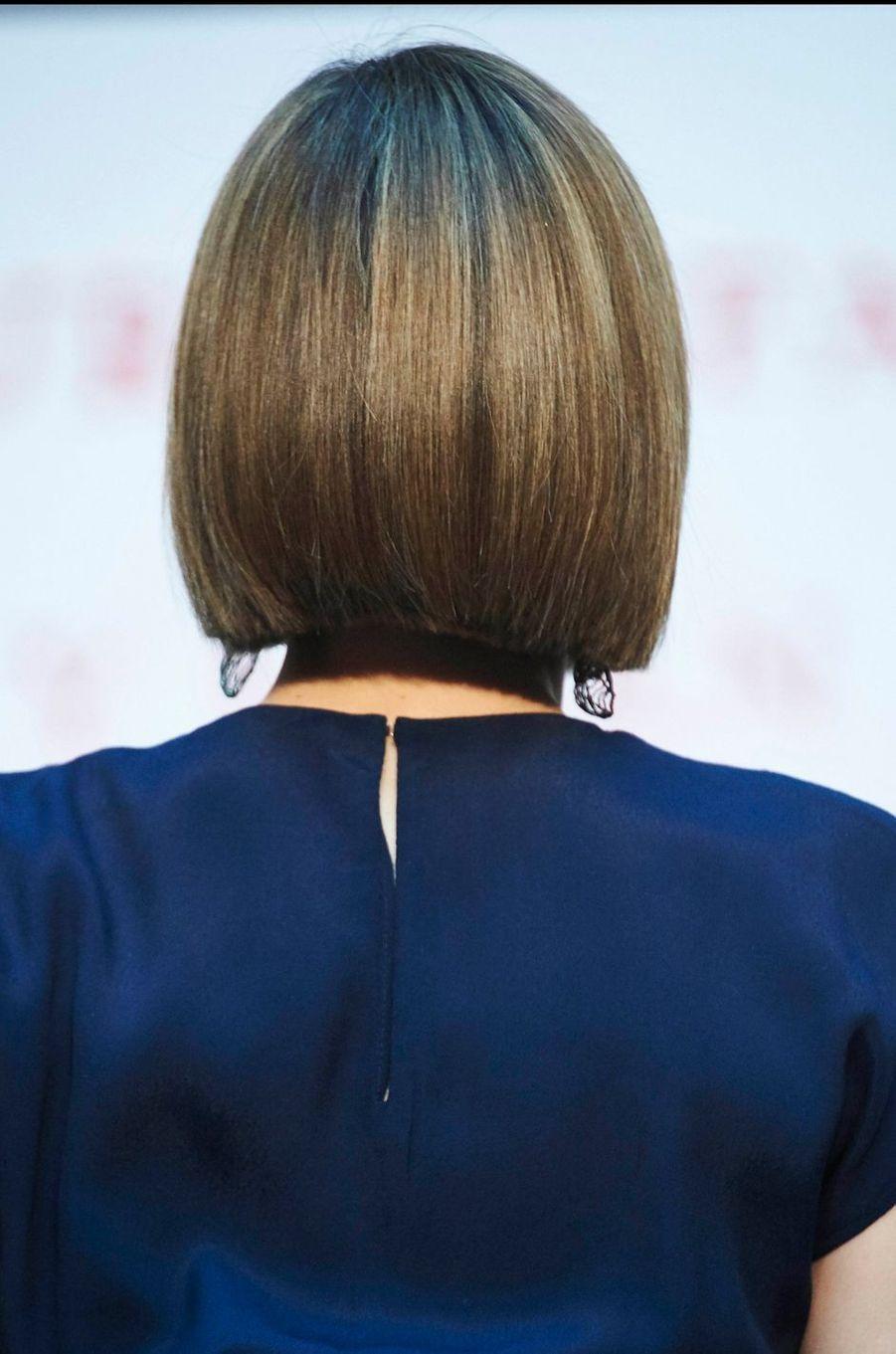 La reine Letizia d'Espagne, le 21 avril 2015