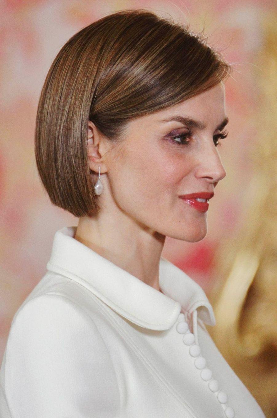 La reine Letizia d'Espagne, le 22 avril 2015